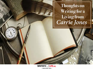 Thoughts on Writing for a Living from Carrie Jones - Writer'